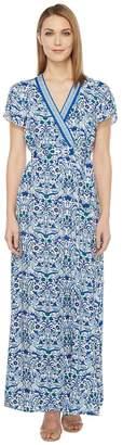 Hale Bob All Mixed Up Rayon Woven Maxi Wrap Dress Women's Dress