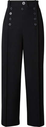 3.1 Phillip Lim Cropped Wool-twill Straight-leg Pants - Midnight blue