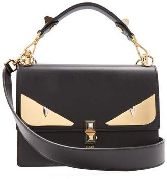 Fendi Kan I Small Leather Shoulder Bag - Womens - Black Gold