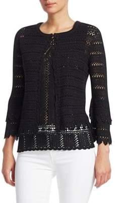 Saks Fifth Avenue Crochet Knit Cardigan