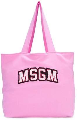MSGM logo printed tote bag