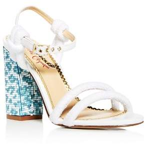 Charlotte Olympia Women's Cordelia Mixed Media High Block Heel Sandals