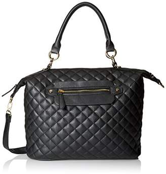 Del Mano Quilted Convertible Top Handle Bag