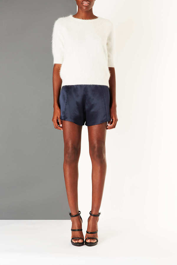 Topshop Satin Flippy Shorts by Boutique