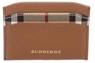 Burberry House Check Leather Wallet