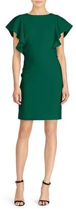 Lauren Ralph Lauren Flutter-Sleeve Crepe Dress - 100% Exclusive $150 thestylecure.com