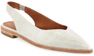 Frye Kenzie Slingback Leather Flats