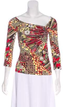 Just Cavalli Metallic Floral Top