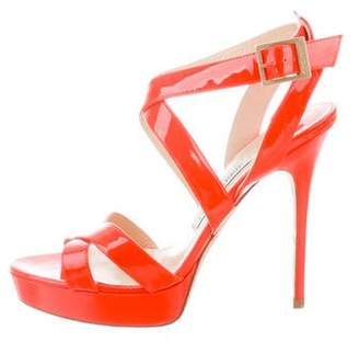 Jimmy Choo Neon Patent Leather Sandals