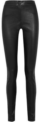 Ann Demeulemeester Stretch-Leather Skinny Pants