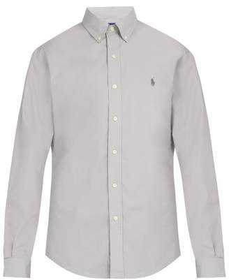 Polo Ralph Lauren Slim Fit Cotton Poplin Shirt - Mens - Grey