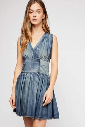Celine Fp One FP One Denim Wrap Mini Dress