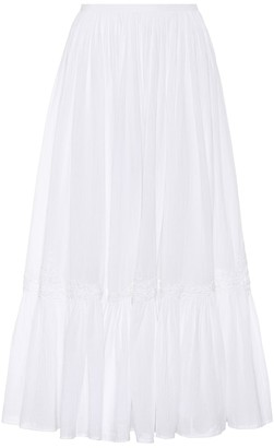 Polo Ralph Lauren Cotton midi skirt