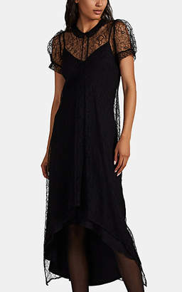 HIRAETH Women's Eloise Lace Puff-Sleeve Dress - Black