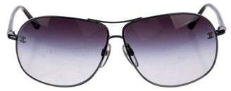 Chanel Gradient Aviator Sunglasses