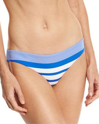 Vitamin A Luciana Striped Hipster Swim Bottom, Blue $99 thestylecure.com