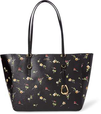 Ralph Lauren Floral Leather Tote