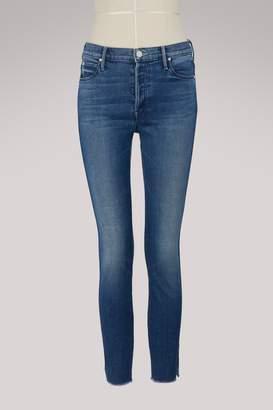 Mother The Vamp mid-rise split-ankle skinny jeans