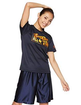 Converse (コンバース) - [コンバース] バスケ 半袖プリントTシャツ 練習用 吸汗・速乾 CB391303 ネイビー 日本 S (日本サイズS相当)