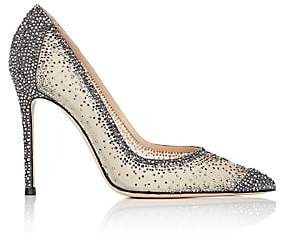 Gianvito Rossi Women's Rania Crystal-Embellished Pumps - Dark Grey