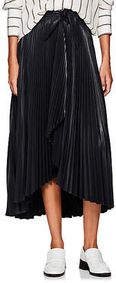 A.L.C. Women's Eleanor Pleated Wrap Skirt - Navy
