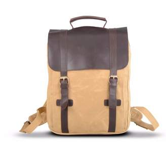 EAZO - Waxed Canvas and Leather Backpack in Tan