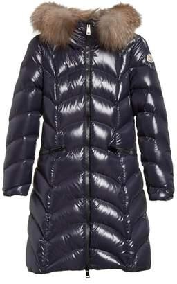 Moncler Albizia Down Puffer Coat with Genuine Fox Fur Trim
