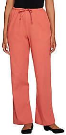 Denim & Co. Regular Classic Waist DrawstringGauze Pants