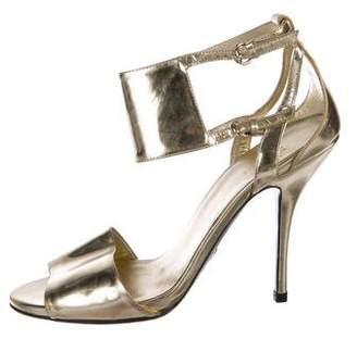 cada643b0d9 Gucci Gold Leather Straps Women s Sandals - ShopStyle
