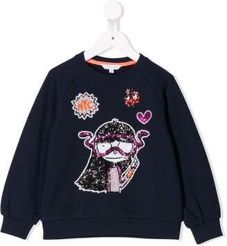 Little Marc Jacobs Miss Marc sequinned sweatshirt