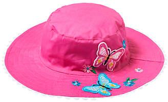 John Lewis & Partners Children's Butterfly Bucket Hat, Pink