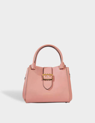 Burberry Medium Buckle Tote Bag in Dusty Pink Grained Calfskin