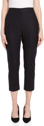 Jil Sander Mohair Flat Front Cropped Pants