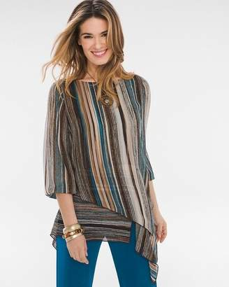 Travelers Collection Striped Woven Top