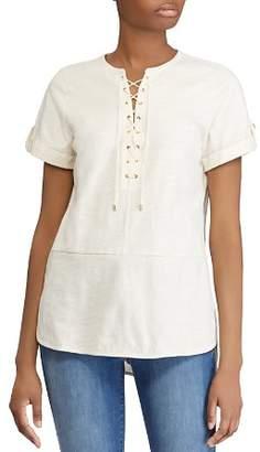 Ralph Lauren Cotton Lace-Up Tunic