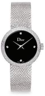 Christian Dior La D De 25MM Black Satine Watch