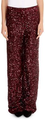 Victoria Beckham Victoria Wide-Leg Sequin Pants