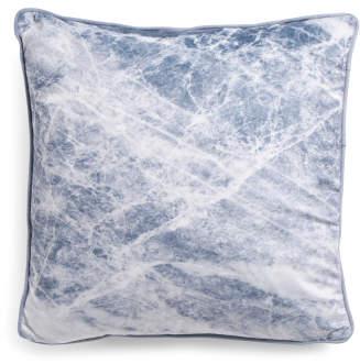 20x20 Marble Printed Velvet Pillow