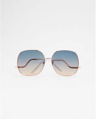 Express square frame sunglasses