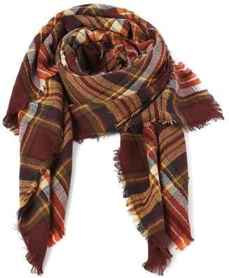 Echo Paths Stylish Warm Blanket Scarf Gorgeous Wrap Shawl Brown Red