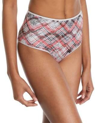 Missoni Mare High-Rise Knit Plaid Bikini Bottoms
