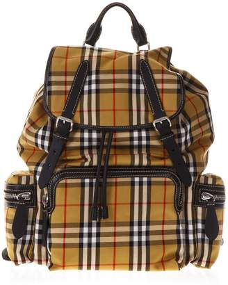 Burberry Rucksac Yellow Nylon Backpack With Check House