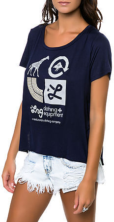 Lrg The Golden Icons Tee in Navy