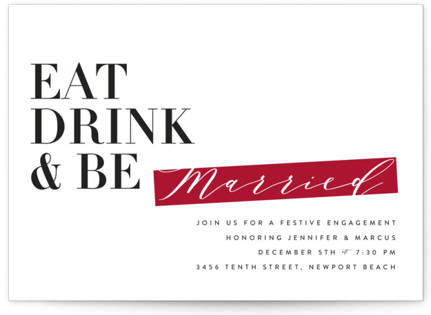 Be Married Holiday Party Invitations