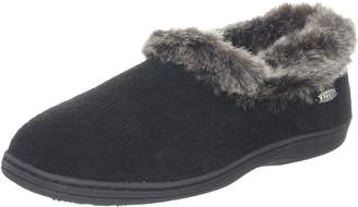 Acorn Women's Chinchilla Collar Slipper ,Medium 6.5-7.5 M US
