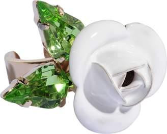 Roberto Cavalli Tortesoishell and rhinestone ring