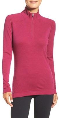 Women's Smartwool 'Nts Mid 250' Half Zip Merino Wool Top $100 thestylecure.com