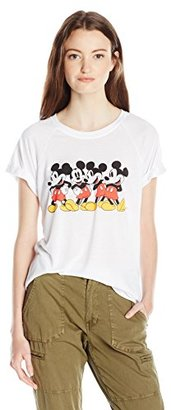 Disney Juniors Mickey Hi-Low Roll Cuff Drapey Graphic Tee $28 thestylecure.com