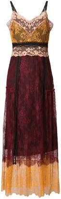 Twin-Set sleeveless lace maxi dress
