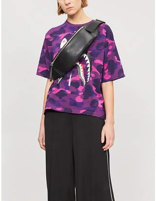 BAPE Shark camouflage-print cotton-jersey T-shirt